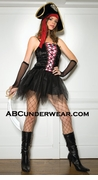 Velvet Lace Up Pirate Queen Costume-Clearance