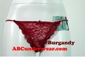 Woman's Floral Lace Thong
