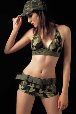 Women's Camouflage Army Swimsuit