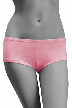 Womens Cotton Spandex Brief Short - Pink
