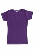 Womens Cotton V-Neck T-Shirt - Royal Purple