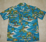 113 Hawaii shirt  Beach blue, M to 2XL