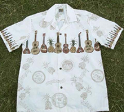 114 Hawaii shirt Yellow Ukulele, M to 3XL