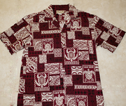 "117 Hawaiian shirt Maroon Turtle<a name=""119""><a name=""120""><a name=""121"">"