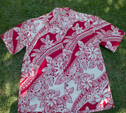 "125 Hawaiian shirt<br>Red & White, M to 2XL, <a name=""128""><a name=""129""><a name=""130"">"