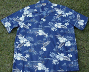 136 Hawaii shirt Blue Orchid, M-2XL
