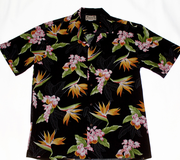 138 Hawaiian shirt Colorful black, M-3XL