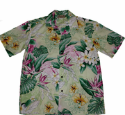 146 Hawaii shirt Colorful Yellow, M-XL