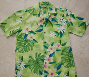 161 Hawaiian shirt Yellow Plumeria flower