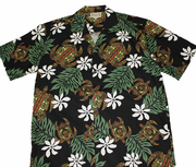 163 Hawaii shirt Colorful Turtle Green M-XL
