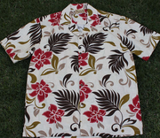 171 Hawaii shirt  Red flower,  M-2XL