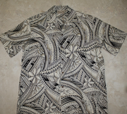 179 Hawaii Shirt Light Brown Wave, M-2XL