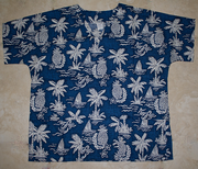 #18 Navy Pineapple Scrub top