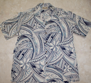 180 Hawaii shirt, Light Blue Wave, M-2XL