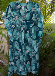 Aqua flower Hawaiian Muumuus