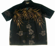 200 Hawaii shirt Black leaf, M-2XL