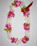 #41 Pink-Yellow-White, Simple Lei