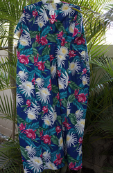 Colorful Blue flower Muumuu