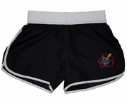 Elastic Girls /womens Boardshorts<br>Black / white