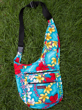 Handy Bag - Blue plumeria