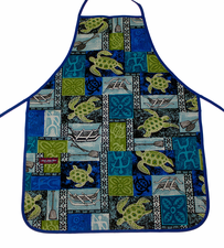 Hawaii Apron - Blue Sea Turtle