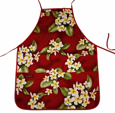 Hawaii Apron -  Red Plumeria