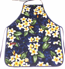 Hawaii Apron - Blue plumeria