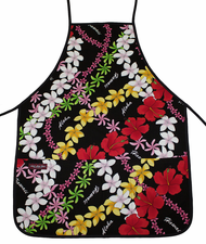 Hawaii Apron - Colorful Black
