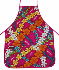 Hawaii Apron - Colorful Pink