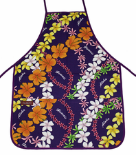 Hawaii Apron - Colorful Purple