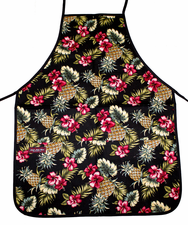 Hawaii Apron- Black Pineapple