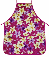 Hawaii Apron - Pink Yellow Flower