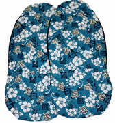 Hawaii car seat cover<br>12  Hawaiian blue <br>(quilted)
