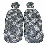 Hawaii Seat Cover<br>Separated Headrest<br>Hawaiian Gray(quilted)