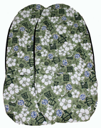 Hawaii car seat cover<br>#3 Green Hawaiian  (quilted)