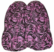 Hawaii car seat cover<br>34 Black /pink flower<br> (quilted)
