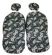 Hawaii car seat cover<br>Separated Headrest, Green Surfboard