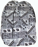 Hawaii car seat cover<br>37 Gray tapa(Quilted)