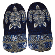 Hawaii car seat cover<br>43 Blue big turtle<br>(quilted)