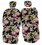 Hawaii Seat Cover<br>Separated Headrest, Colorful flower<br> (Non-quilted)