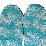 Hawaii Seat Cover,  Aqua Blue leaf  (Non-quilted)