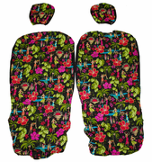 Hawaii Seat Cover<br>Separated Headrest<br>Hula Girls