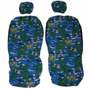 Hawaii Seat Cover<br>Separated Headrest<br>Island Reef