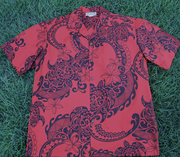 Hawaiian Shirt #10 Red and black