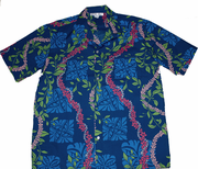 Hawaiian Shirt <br> #51 Blue flower