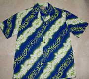 Hawaiian Shirt <br>#12 Blue Wave, M - XL