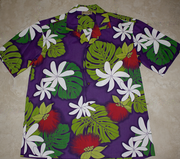 Hawaiian Shirt #14 Purple /green, M to 2XL