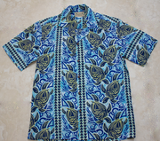 Hawaiian Shirt #18 Blue wave M-XL