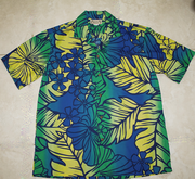 Hawaiian Shirt<br> #21 Blue / Yellow, M-2XL