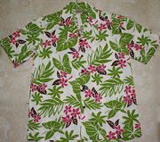 Hawaiian Shirt <br>#27 Yellow /pink flower